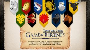 GAMES OF THRONES: DESCUBRA A QUAL CASA VOCÊ PERTENCE