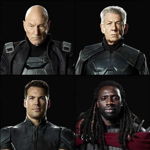 Xavier, Magneto, Colossus e Bishop