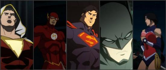 Justice League War Shazam Superman Batman Wonder Woman