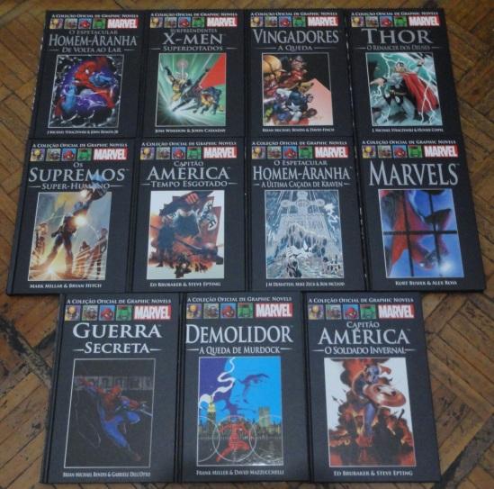 Essa foto é da minha própria coleção e os volumes estão na ordem em que foram lançados.