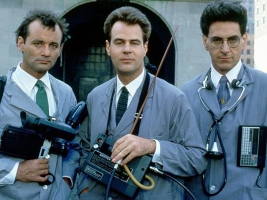 Bill Murray, Dan Aykroyd e Harold Ramis em 'Os caça-fantasmas' (1984)