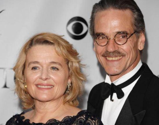 Jeremy Irons e sua esposa Sinead Cusack