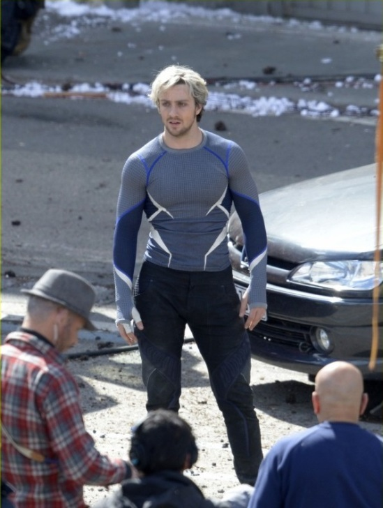 Aaron Taylor-Johnson on set of 'The Avengers: Age of Ultron'